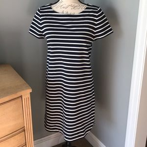 New with tags! Loft Navy and White stripped dress!